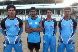 (l-r) Gautham Ravindran (4-34), Sanjay Stanley (43), Saiteja Mukkamalla (60) and Vedant Parwal (5-23) ensured Tri-State march to the final.